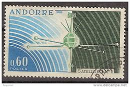 Andorra Francesa U 177 (o) Satelite. 1966
