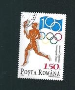N° 4175 A Centenaire Du Comité International Olympique  Timbre Posta Romana  Roumanie (1994) Oblitéré Sur Neuf