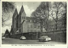 ARLON -- L' Eglise Et La Maison  Saint-François-Xavier - La Rue Des Déportés.     ( 2 Scans) - Arlon
