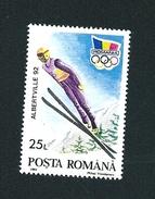 N° 3985 F JO D'hiver D'Alberville De 1992 : Le Saut à Ski Timbre Posta Romana  Roumanie (1992) Oblitéré Sur Neuf