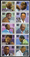 USA 1995 Jazz Musicians Block Of 10, Value In Black, MNH (SG 3092/3101) - United States