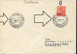 21875 Boemia & Morava, Circuled Cover 1942 Prag, Eis Hockey And Figure Skatin Of Hitler Youth (very Scarce)