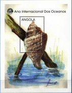 ANGOLA, 1998, EXPO´98, MARINE FAUNA, R#B.44, SS, MNH - Angola