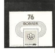 POLOGNE  BLOC N° 67 A NOVODRUK  NEUF ** MNH DE1975   PRIX 1 2 €