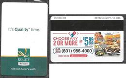 Hotel  - Quality Inn, Dominoes Pizza, Jackson Mississippi - Hotel Keycards