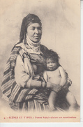 SCENES ET TYPES - Femme Kabyle Allaitant Son Moutchatchou