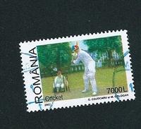 N° 4758 SPORT Cricket 7000l  Timbre Posta Romana  Roumanie (2002) Oblitéré