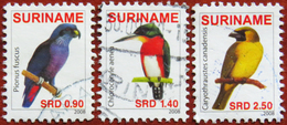 FREE POSTAGE!! Suriname 2008 Birds, Vögel, Oiseaux, Uccelli, Aves, Fauna, 3v Part, Used, Gestempelt, Vg