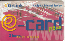 GREECE - E-card, GrLink By Telsatnet Internet Prepaid Card 3 Hours, Tirage 2000, Sample