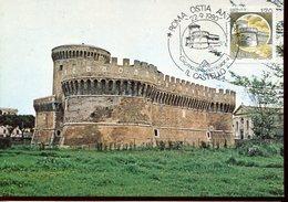 21880 Italia, Maximum 1980 Roma Ostia Antica, Showing The Castle Of Julius II, Architecture