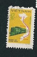 N° 252 Ligne De Train Timbre Viet Nam (1980) Oblitéré