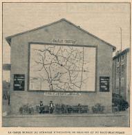 Photo (1924) : BEAUJEU (Rhône), La Carte Murale Du Syndicat  D'Initiative De Beaujeu Et Du Haut-Beaujolais - Old Paper