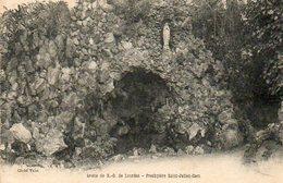 CPA - CAEN (14) - Aspect De La Grotte De N.-D. De Lourdes Au Presbytère Saint-Julien En 1922 - Caen