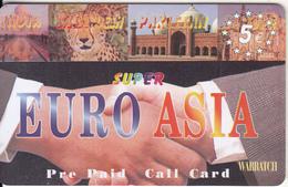 GREECE - Euro Asia Prepaid Card 5 Euro(thick Plastic), Used