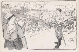 C Pub Attelage De Boeufs Dessin Georges Fay Dos Syndicat Central Des Agriculteurs Circulée Timbrée 1923 - Syndicats