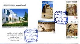 2002 TUNISIA Fdc Sites Et Monuments De Tunisie - Tunisia (1956-...)