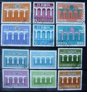 EUROPA CEPT 1984 - LOTE (B) 6 SERIE USADOS - EN DESCRIPCION ANOTADOS LOS PAISES QUE HAY (R217) - 1984