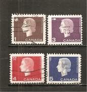 Canada. Nº Yvert  328, 330-32 (usado) (o) - 1952-.... Reinado De Elizabeth II