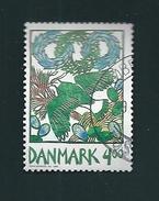 N° 1210 Northern Lapwing (Vanellus Vanellus) Vanneau Timbre Danemark (1999) Oblitéré