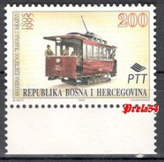 Bosnia Sarajevo -100 Years Of Electric Tram In Sarajevo 1995 MNH