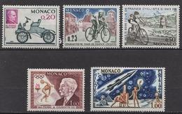 MONACO 1964 LOT N° 632 / 633 / 634 / 635 / 636 / 5 TP NEUFS* /C2613