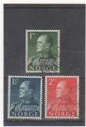 NORVEGE 1958-60 YT N° 386-7-8