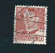 N° 321A Frédéric IX  Timbre Danemark (1948) Oblitéré