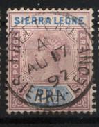 SIERRA LEONE 2 1/2 D COLONIES BRITANIQUES - Sierra Leone (...-1960)