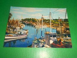 Cartolina Igea Marina - Porto Canale 1963 - Rimini