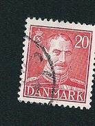 N° 284 Christian X  Timbre Danemark (1943) Oblitéré