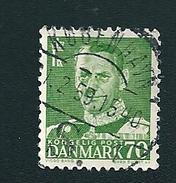 N° 330 Roi Frédéric IX   Timbre Danemark (1948) Oblitéré