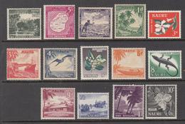 NAURU 1954 Definitive Set Mi 37-50 MVLH (*) #8316