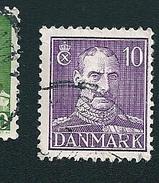 N° 282 Roi Christian X Timbre Danemark (1943) Oblitéré