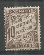 """Monaco P7 """" 10 C-Briefmarke """" Ungebraucht Ohne Gummi Mi.-Kat.postfr. M. Falz: 320,00"""