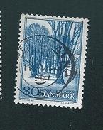 N° 450 Sauvegarde Des Sites Naturels  Timbre Danemark (1966) Oblitéré