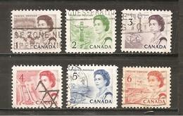 Canada. Nº Yvert  378-82A (usado) (o) - 1952-.... Reinado De Elizabeth II