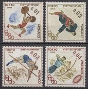 MONACO 1964 - SERIE N°654/55/56/57 - NEUFS * /C2616