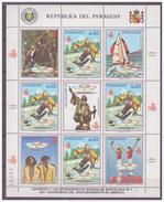 736 Paraguay Olympics Barcelona 1992 Sailing Horse-riding Skiing S/S MNH