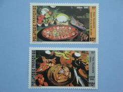 1986 Polynésie Française Yvert  261/2 **  Plats Polynésiens Food  Scott 423/4 Michel 454/5  SG 482/3 - Neufs