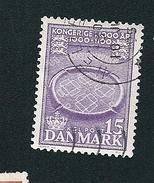 N° 348 Camp Viking De Trelleborg  Timbre Danemark (1953) Oblitéré