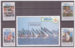 739 Grenada Olympics Barcelona 1992 Boxing Athletic Discus Sailing + S/S MNH - Zomer 1992: Barcelona