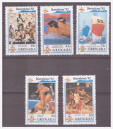 740 Grenada Olympics Barcelona 1992 Swimmimg Wrestling Basketball MNH - Sommer 1992: Barcelone