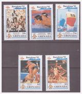 740 Grenada Olympics Barcelona 1992 Swimmimg Wrestling Basketball MNH