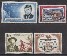MONACO 1964 LOT N° 658 / 659 / 660 / 661  NEUFS  * /C2617