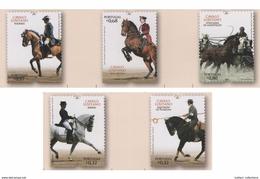 SET 5 STAMPS MNH PORTUGAL 2009 LUSITANO HORSE Horses CHEVAL CHEVAUX HIPPISME CABALLOS
