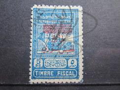 BEAU TIMBRE DE SYRIE N° 316 ( REFERENCE MAURY ) , SURCHARGE CARMIN !!! - Oblitérés
