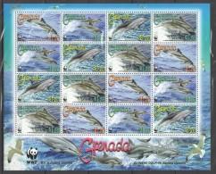 VV7 2007 Grenada WWF Marine Life Dolphins 1SH MNH