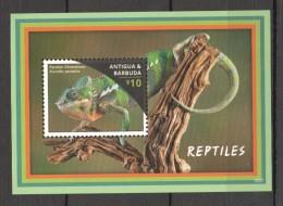 VV154 ANTIGUA&BARBUDA ANIMALS REPTILES 1BL MNH