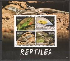 VV155 ANTIGUA&BARBUDA ANIMALS REPTILES 1KB MNH