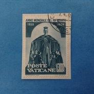 1960 VATICANO FRANCOBOLLO USATO STAMP USED - ANNO MONDIALE DEL RIFUGIATO 300 Lire -